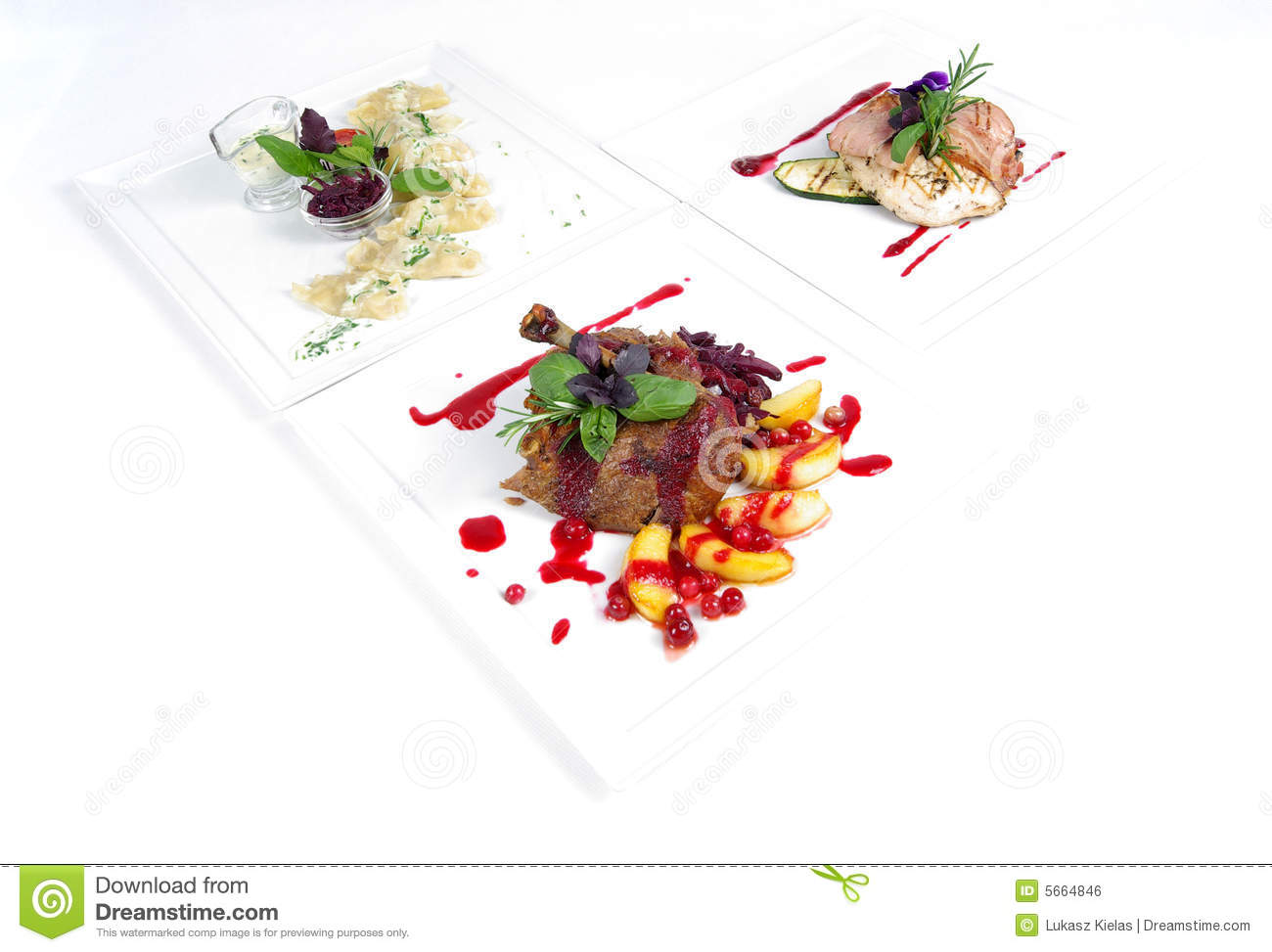 Plates of fine dining meal stock photo Image of meat  : plates fine dining meal 5664846 from www.dreamstime.com size 1300 x 973 jpeg 96kB