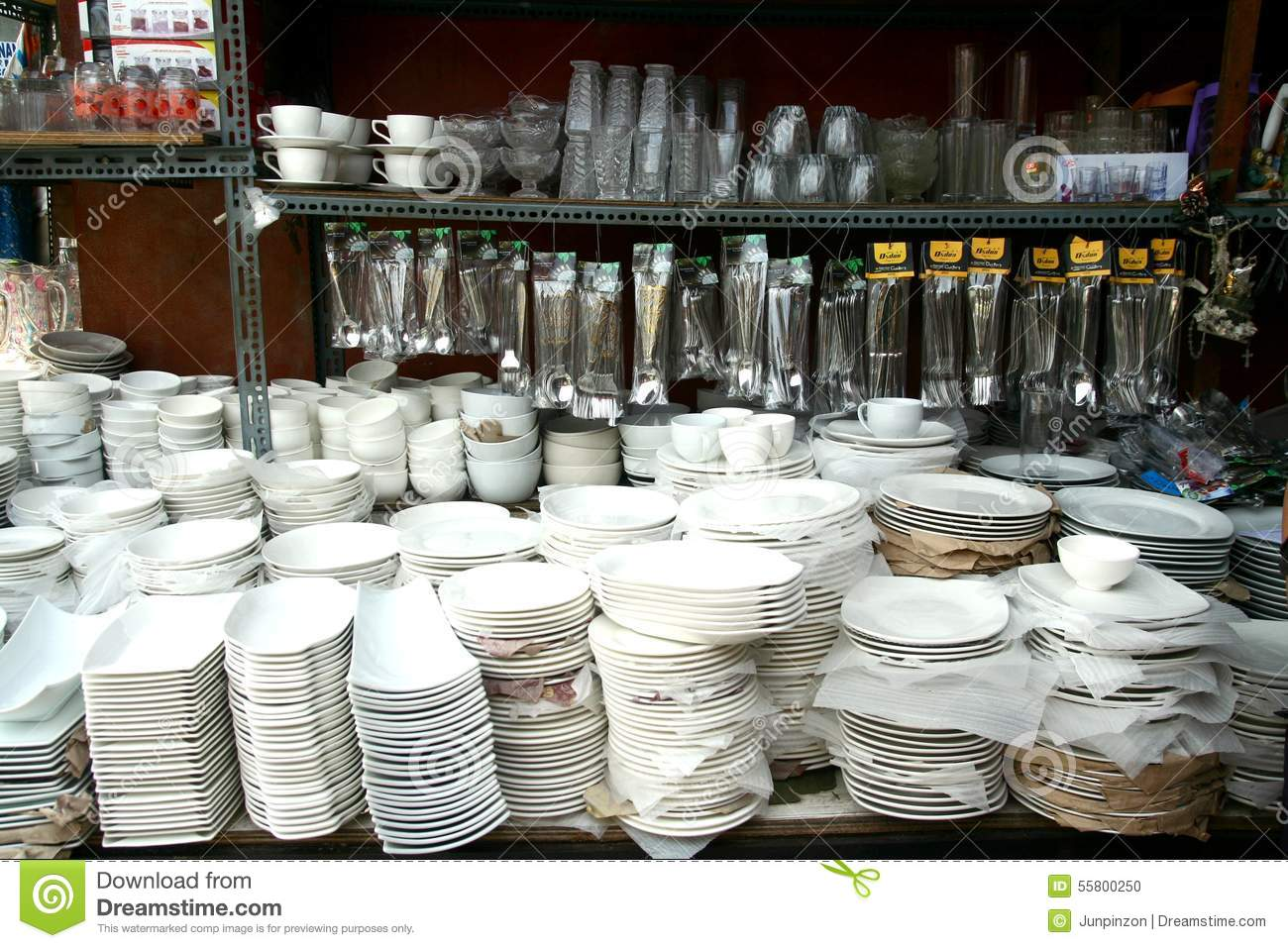 Plates Glassware Utensils And Other Kitchenware Sold At