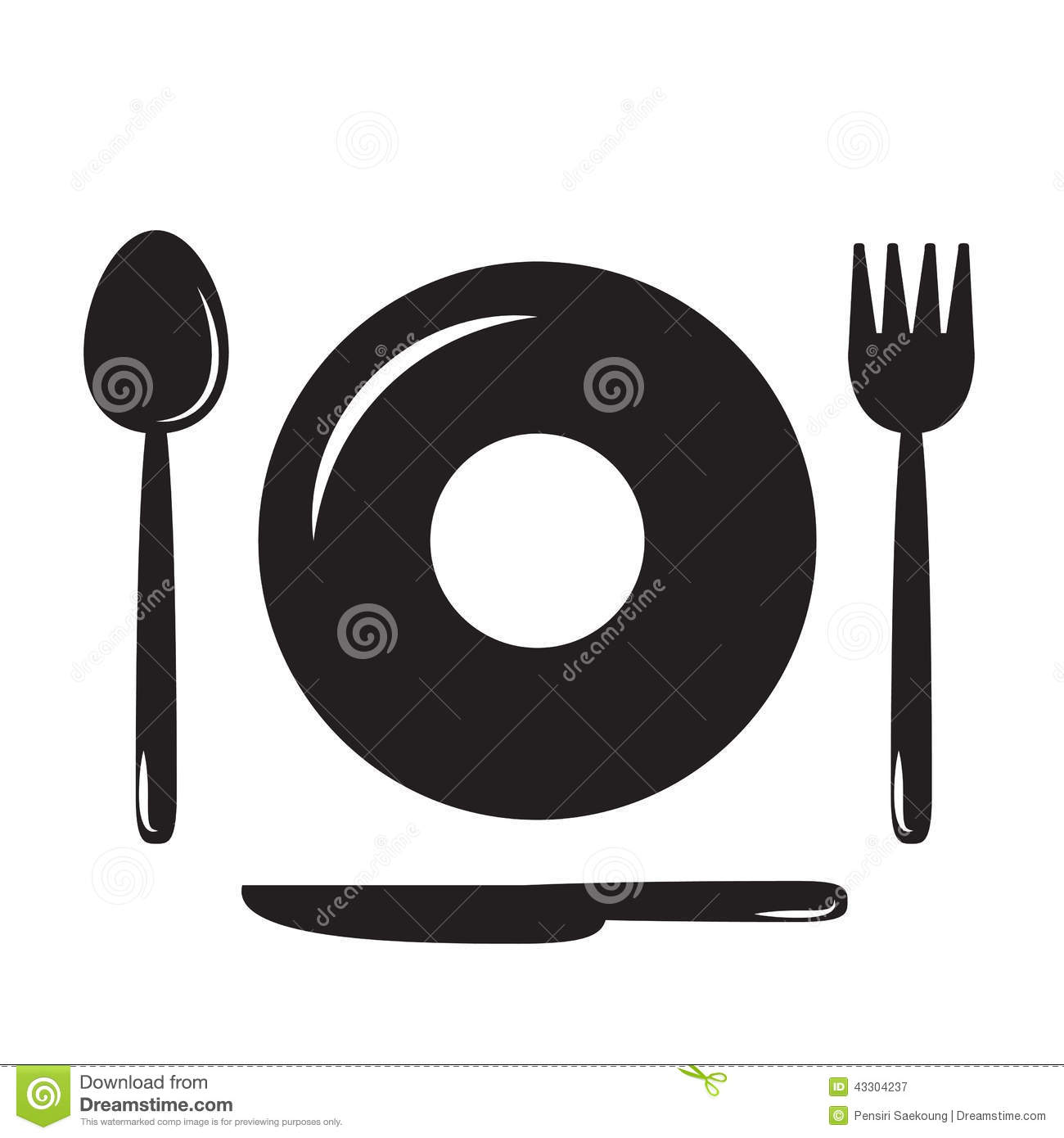 Plates Spoons Forks And Knivesfood Iconfood Symbol