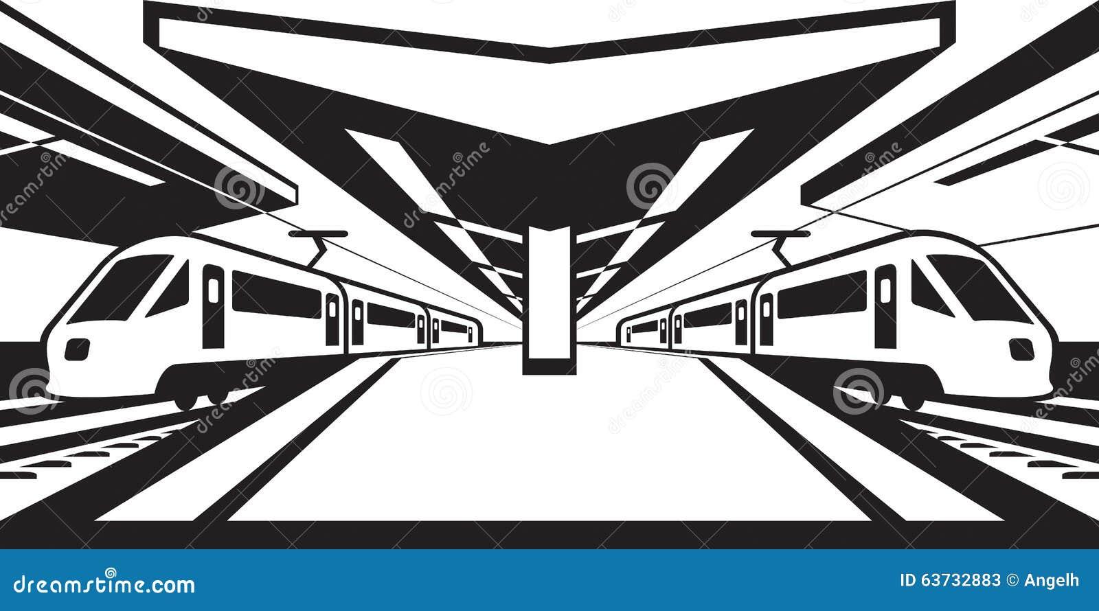 train platform clipart - photo #32