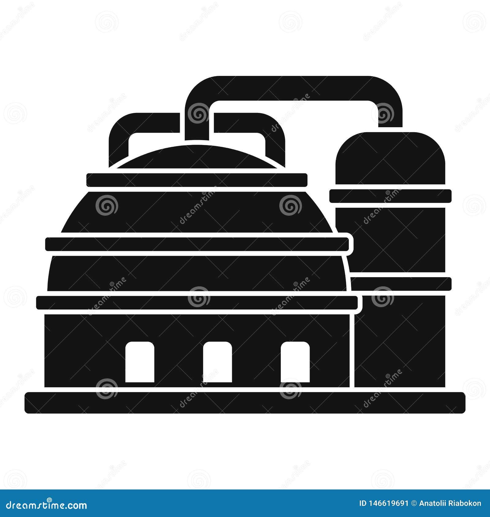 Platform Refinery Plant Icon, Simple Style Stock Vector