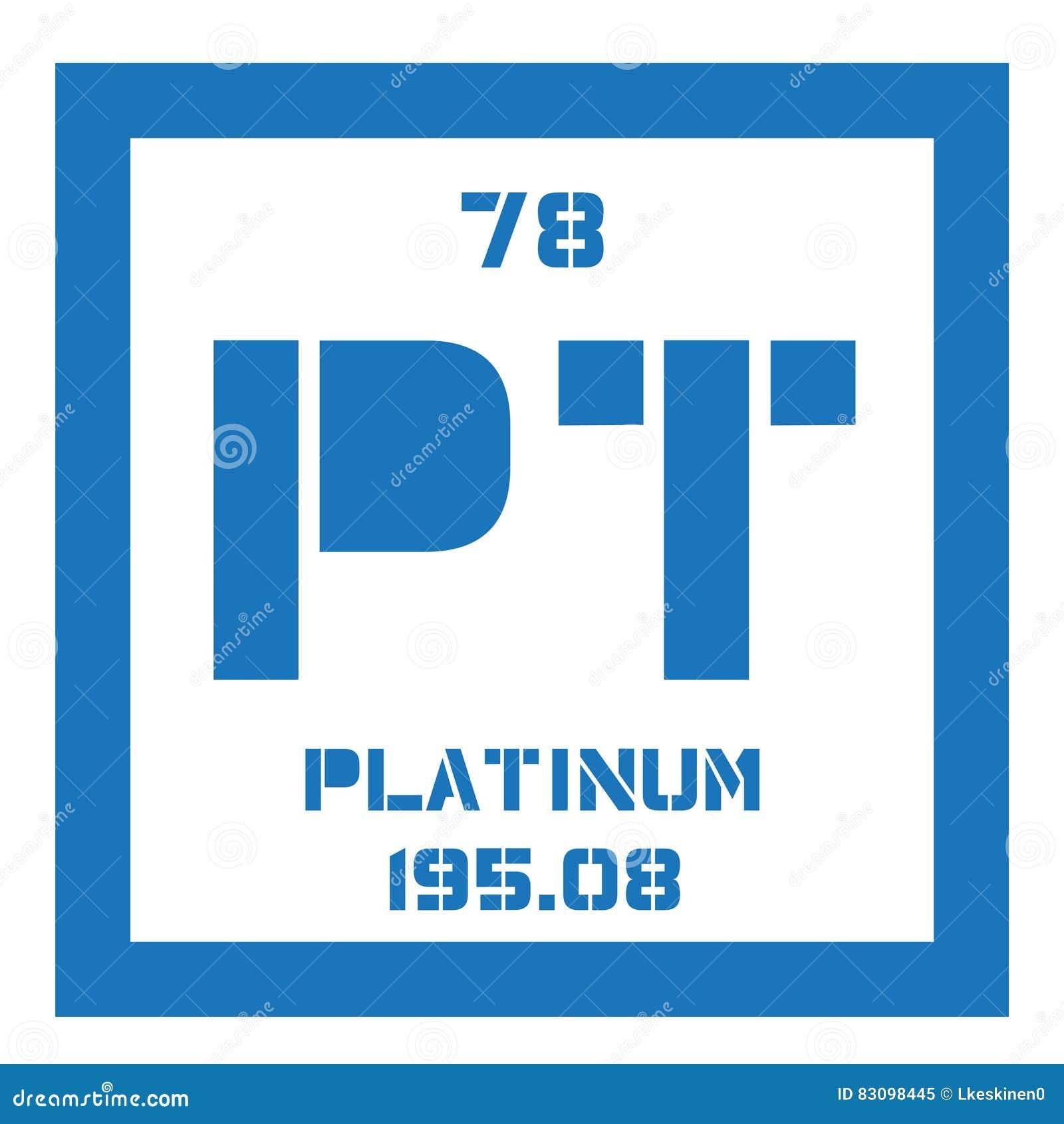 Platinum Chemical Element Stock Vector Illustration Of