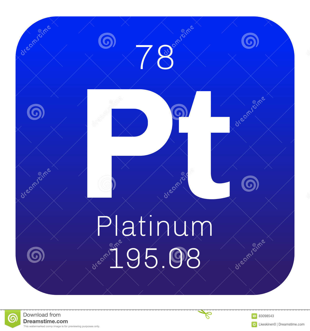 Platinum Chemical Element Stock Vector Illustration Of Chemistry