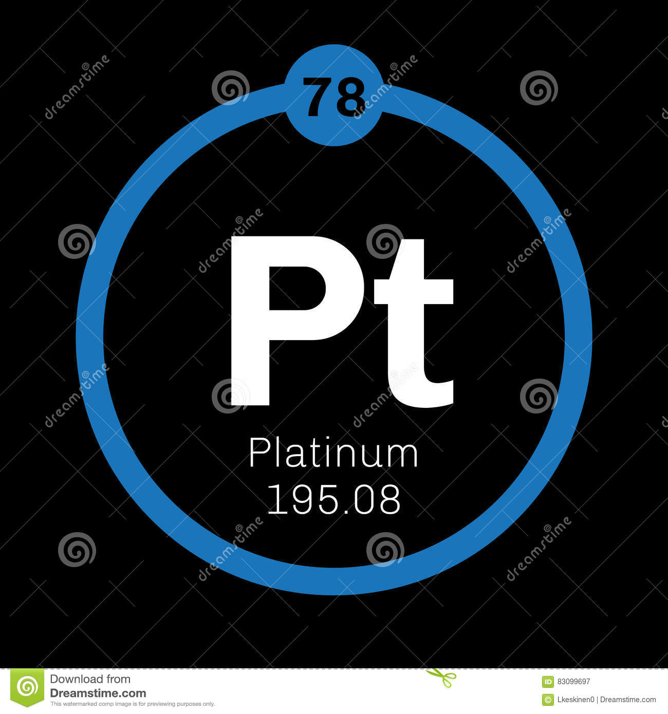Platinum Chemical Element Stock Image Image Of Mass 83099697