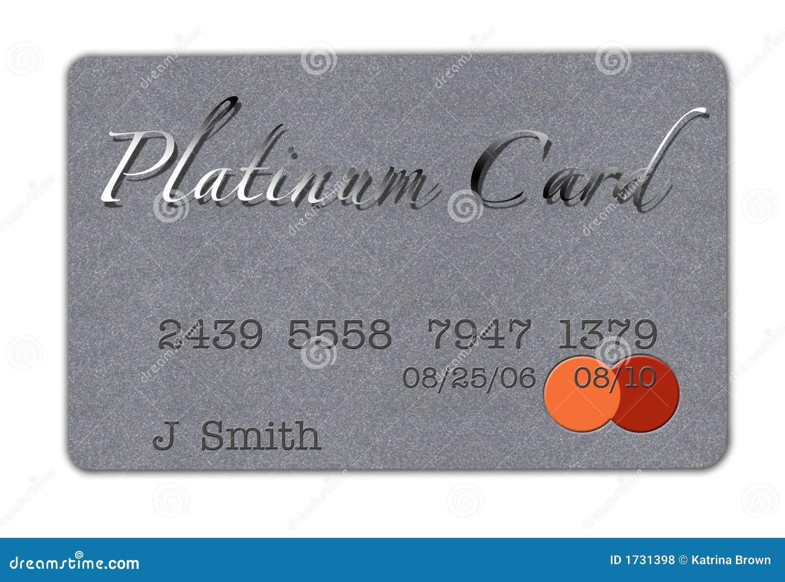 Platinum Credit Card Royalty Free Stock Photos Image