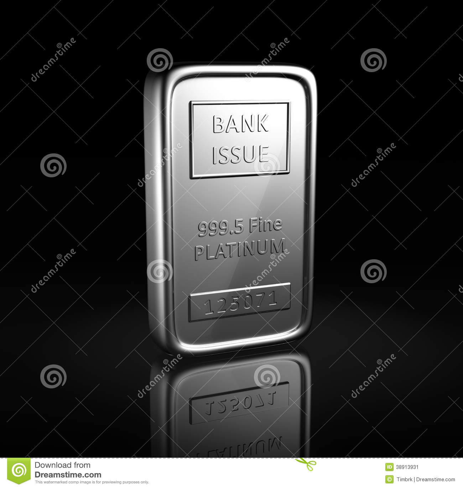 Platinum ingot stock illustration. Image of sign, fine ...