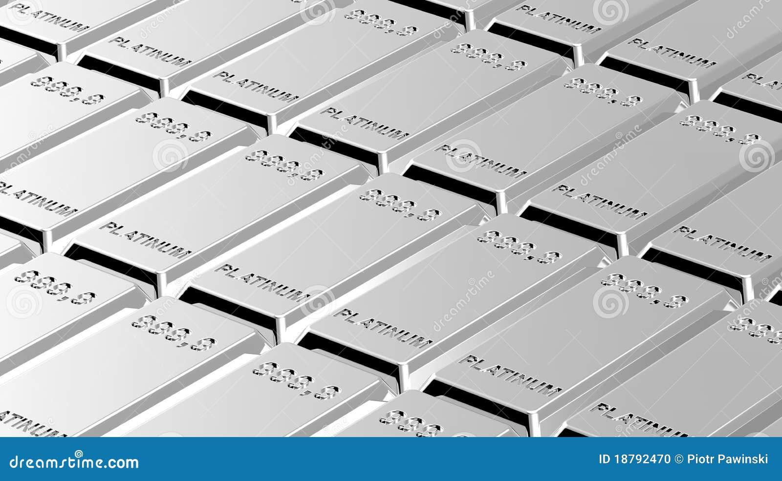 Platinum Ingots Background. Stock Photo - Image: 18792470