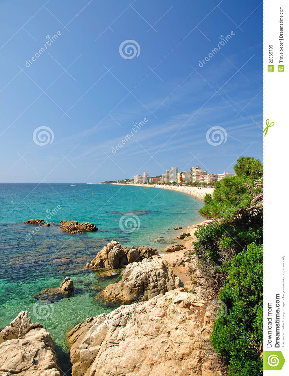 Platja aro catalonia spain royalty free stock photography - Cases platja d aro ...
