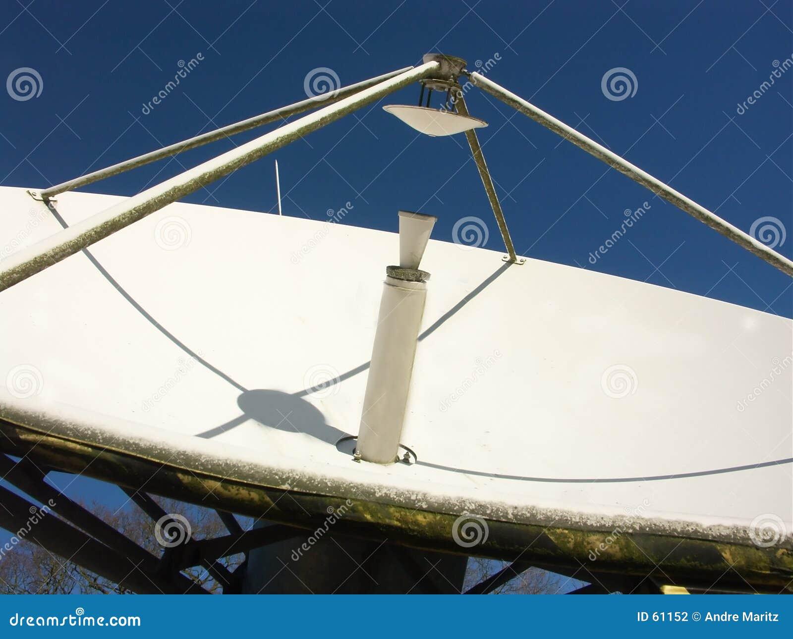 Plato basado en los satélites de la difusión