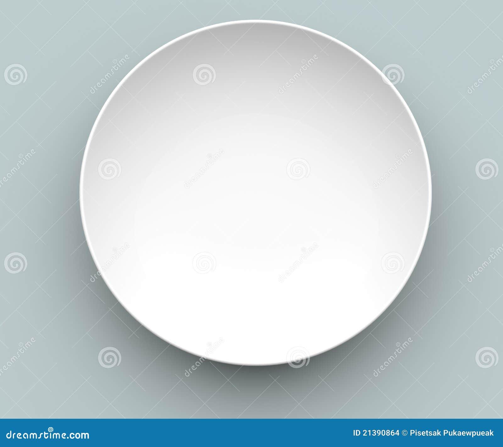 Plato blanco de la esfera 3d imagenes de archivo imagen for Plato blanco
