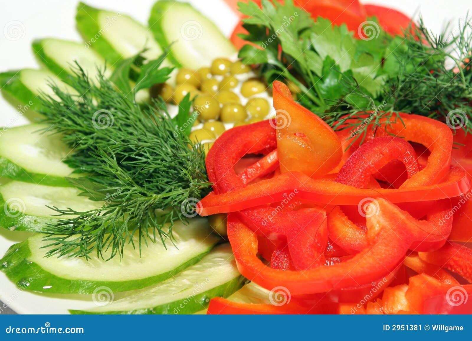 plato de verduras frescas imagen de archivo imagen 2951381