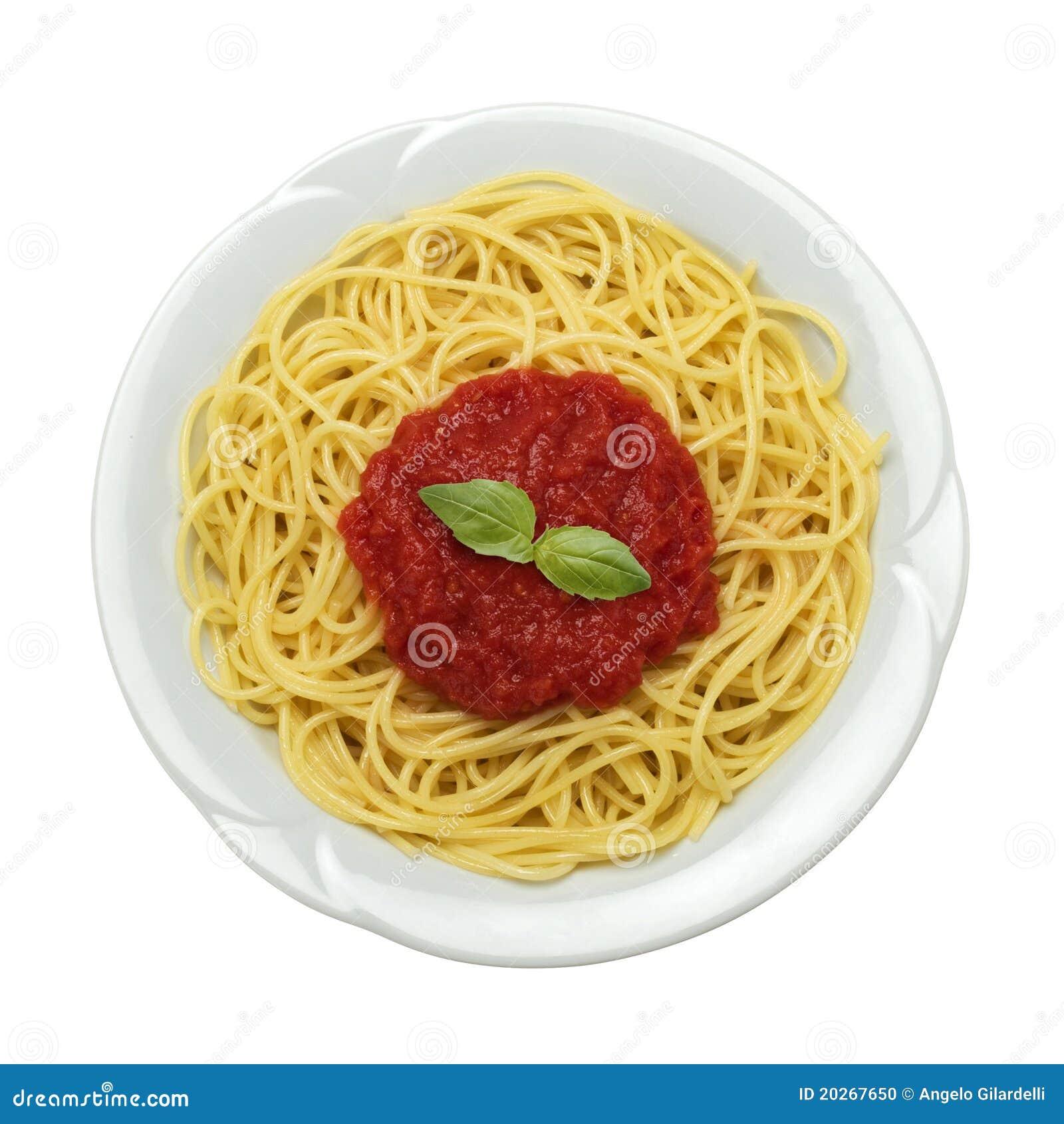 Plato del espagueti foto de archivo imagen de italiano for Plato de espaguetis