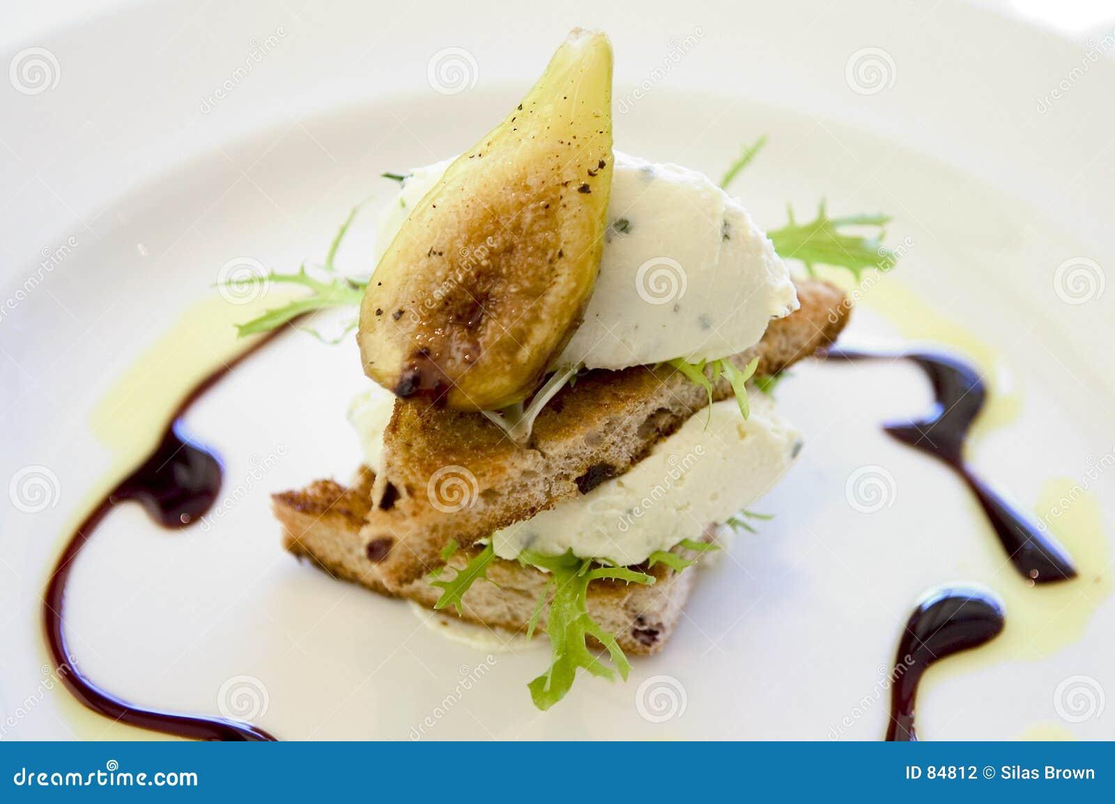 Plato del higo del alimento