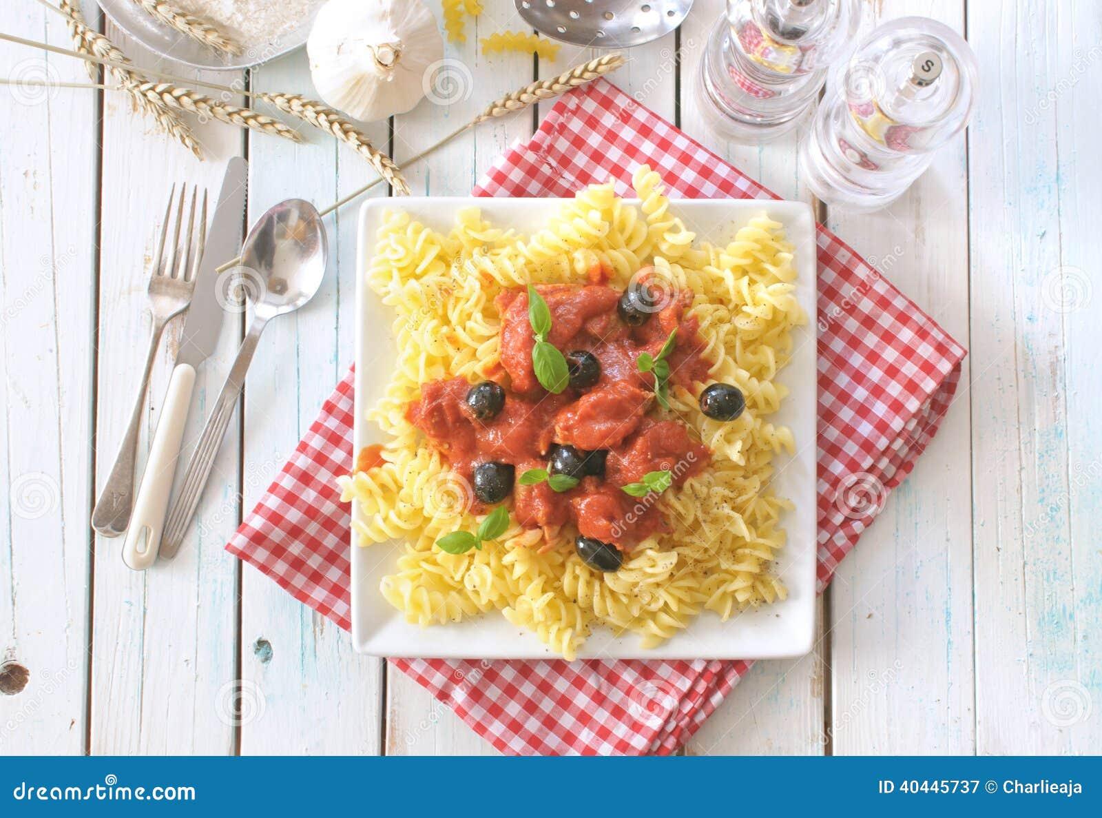 Plato italiano de las pastas