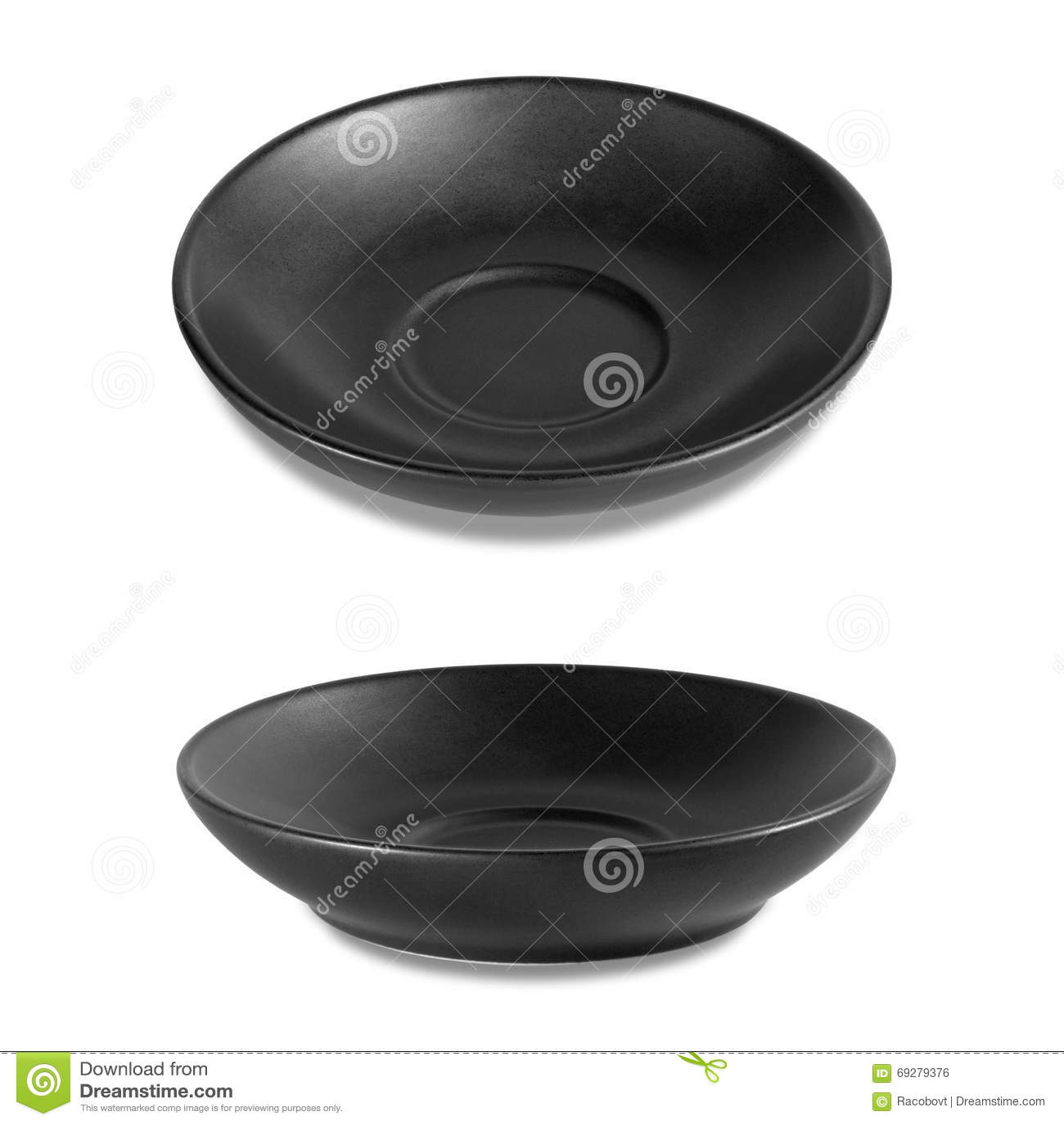 Plato negro vacío