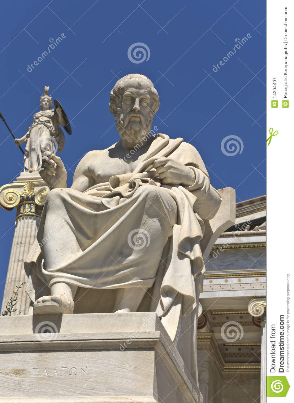 Plato Statue At The Academy Of Athens Greece Royalty Free
