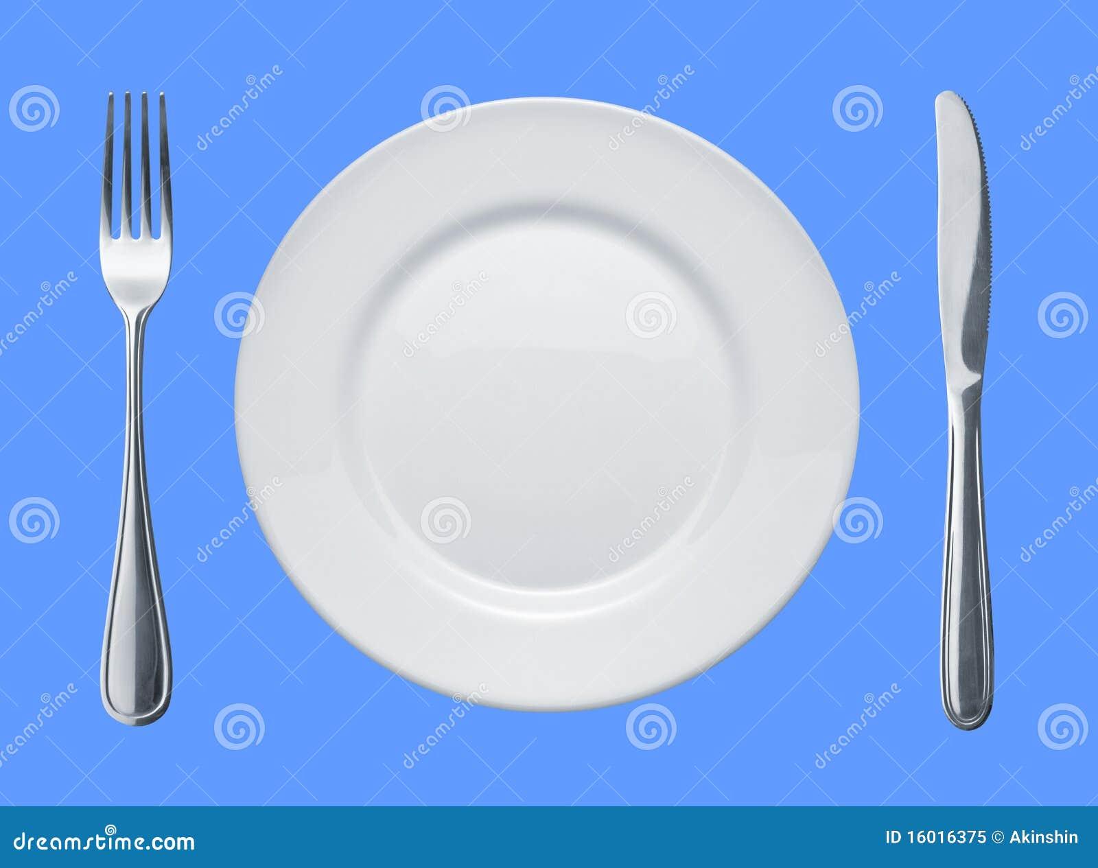 Plato y platos y cubiertos imagen de archivo imagen de for Cubiertos de plata precio