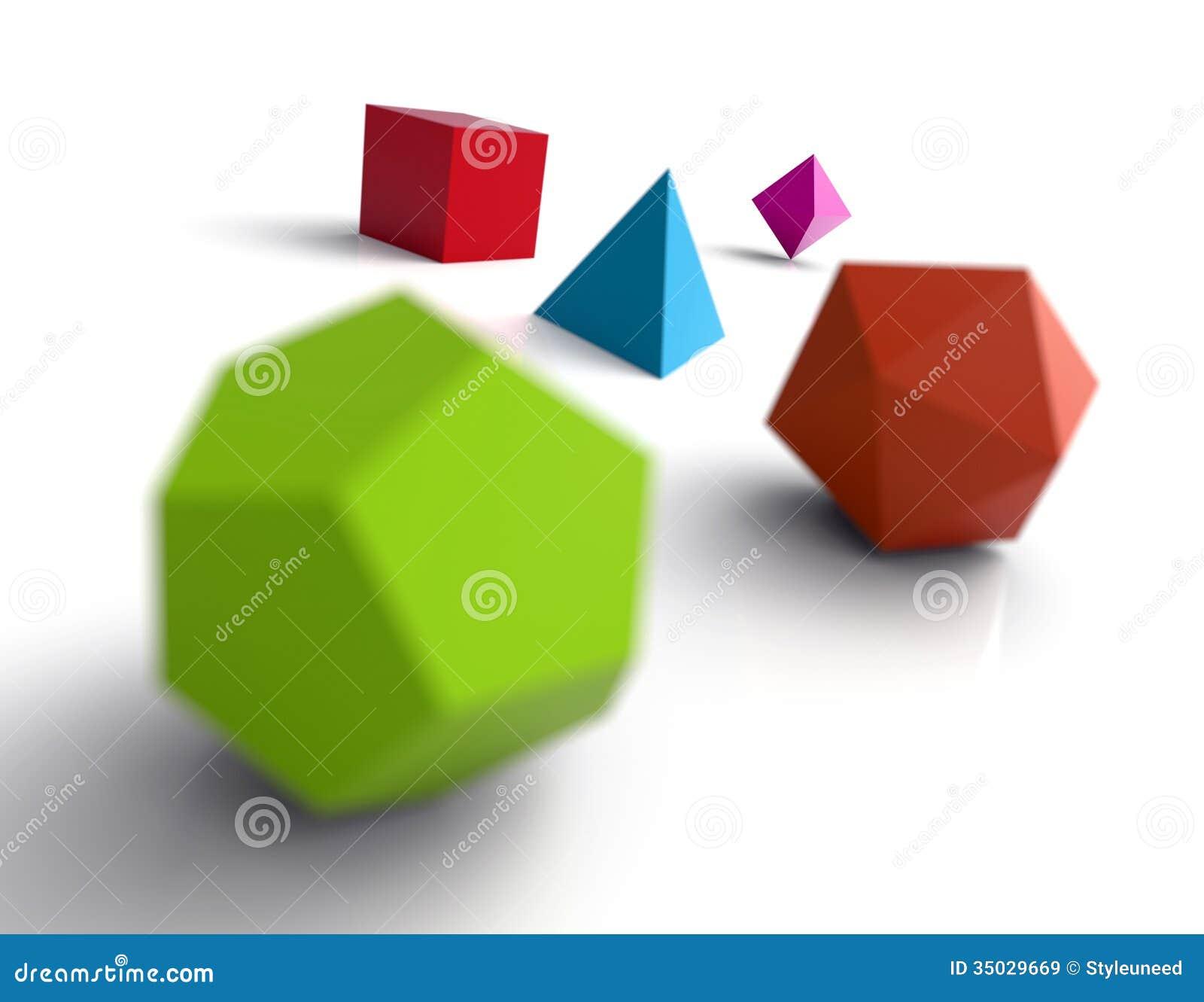 Platonic Solids, Illustration Cartoon Vector ... Images Of Solids