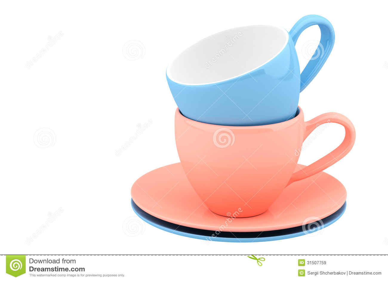 Platos de cer mica y tazas del color - Platos ceramica colores ...
