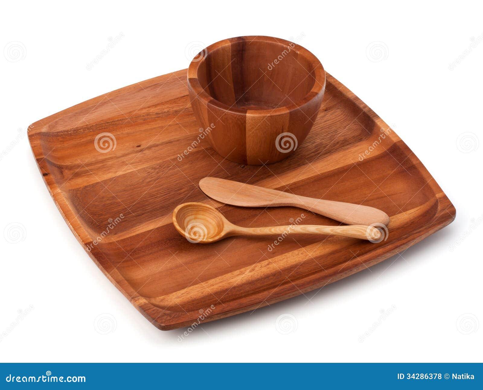 Platos de madera hechos a mano de la cocina foto de for Madera para tejados de segunda mano
