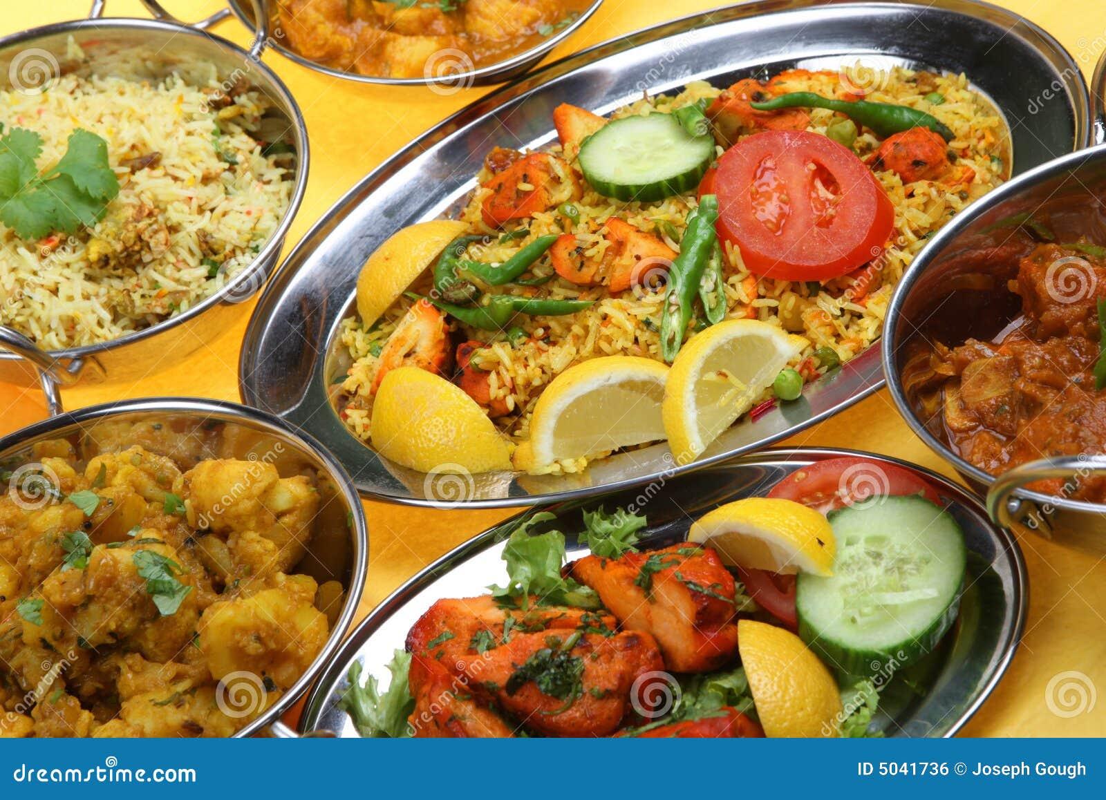 Platos indios del curry