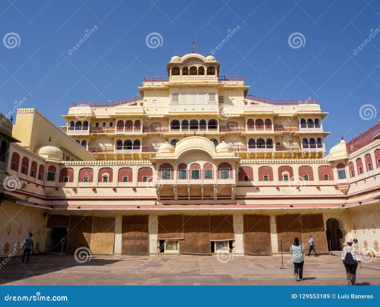 Platser från Amber Fort, i Agra, Indien