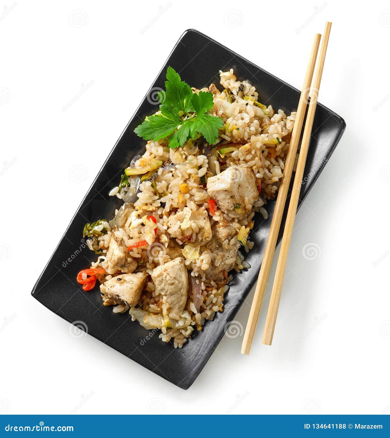 Platta av asiatisk mat