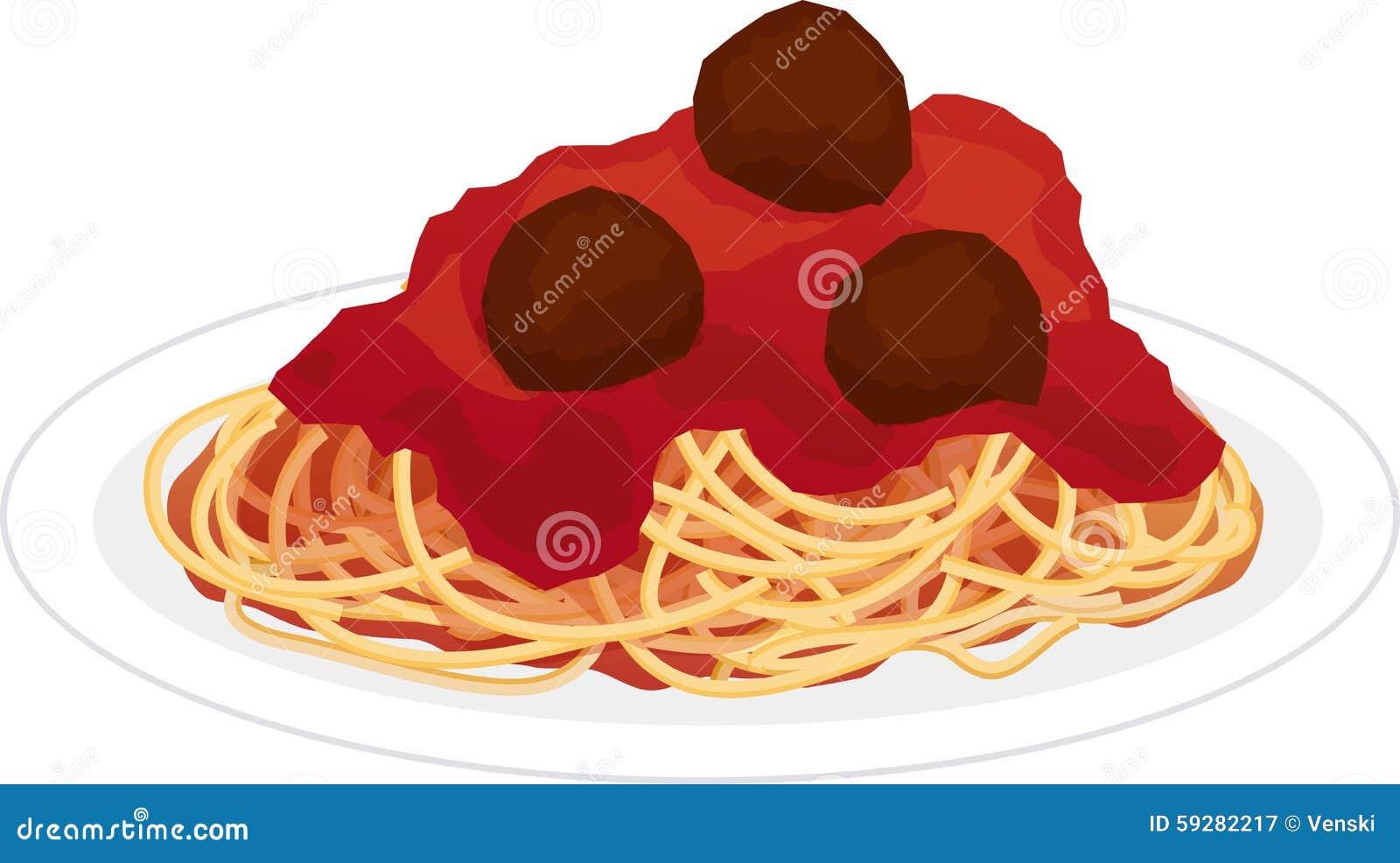Platta av spagetti