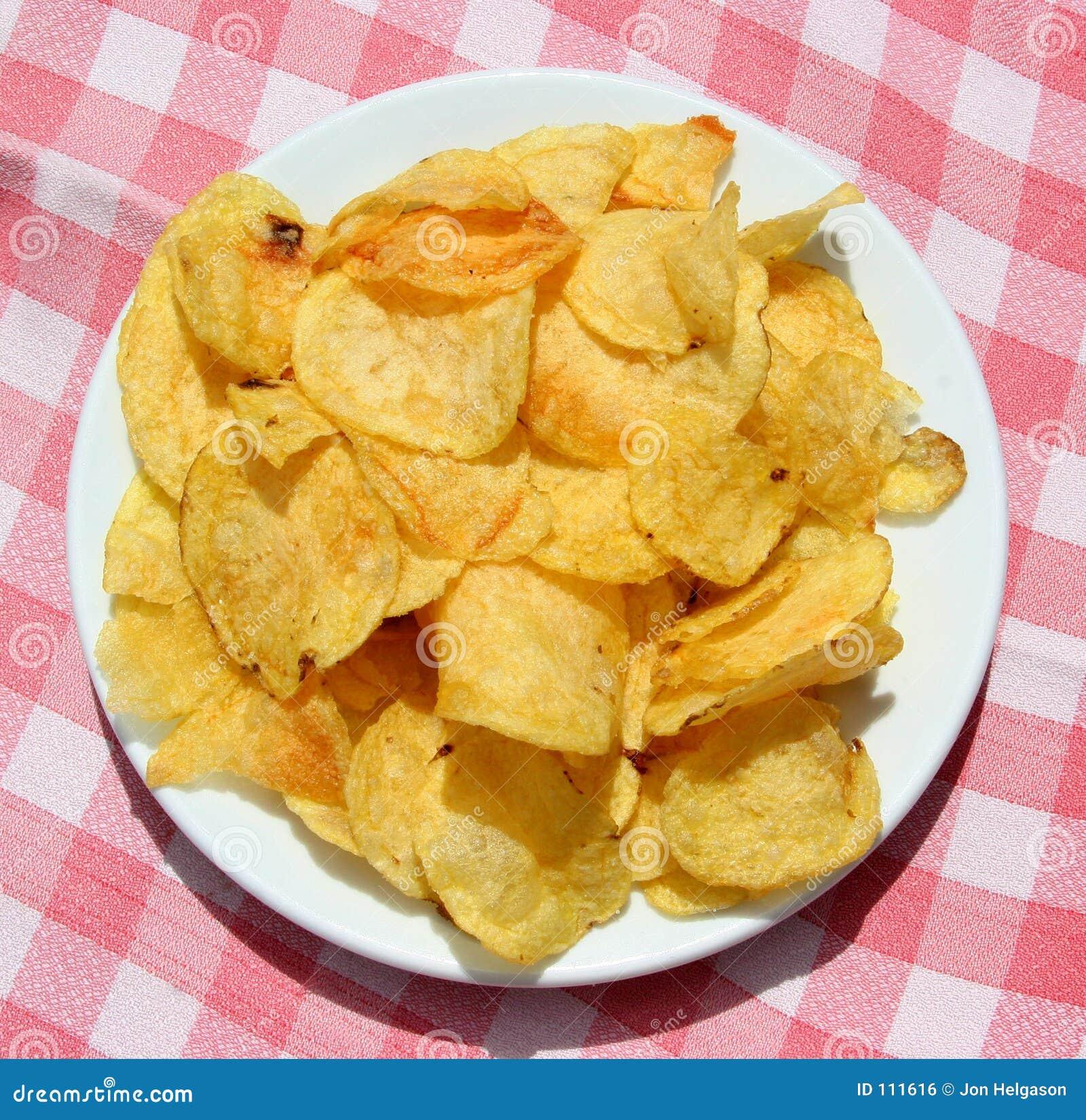 Platte der Chips