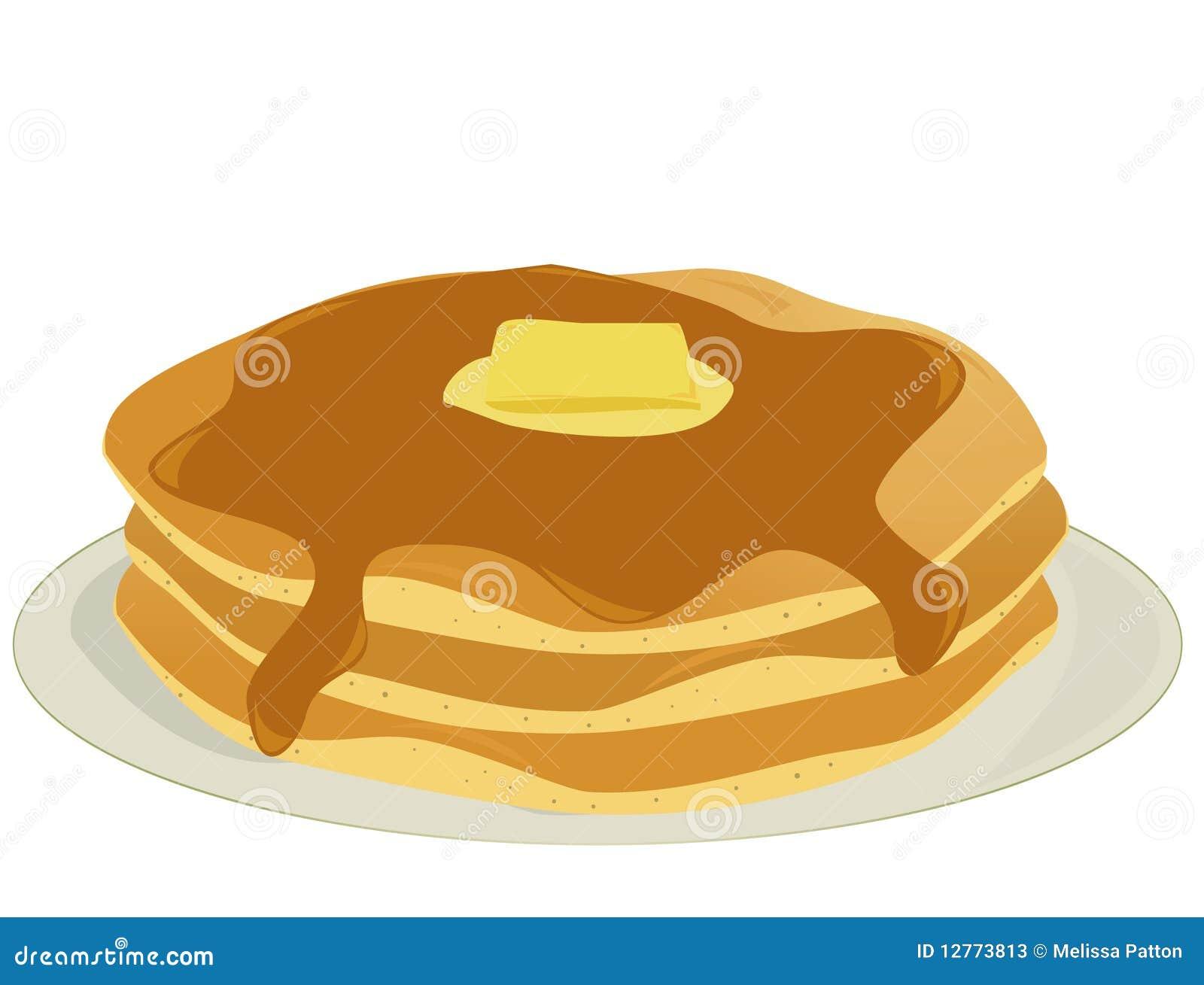 Platte der Pfannkuchen