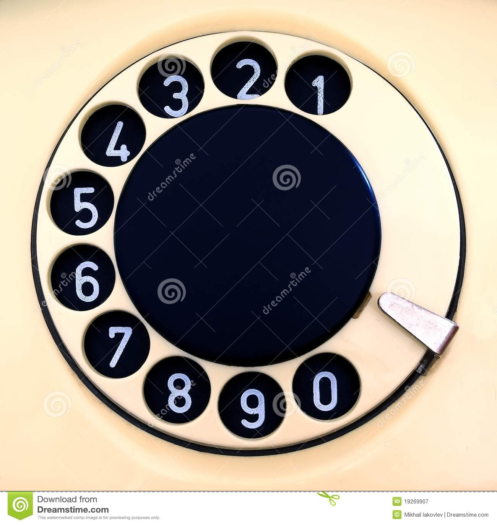 Platte des alten Telefons