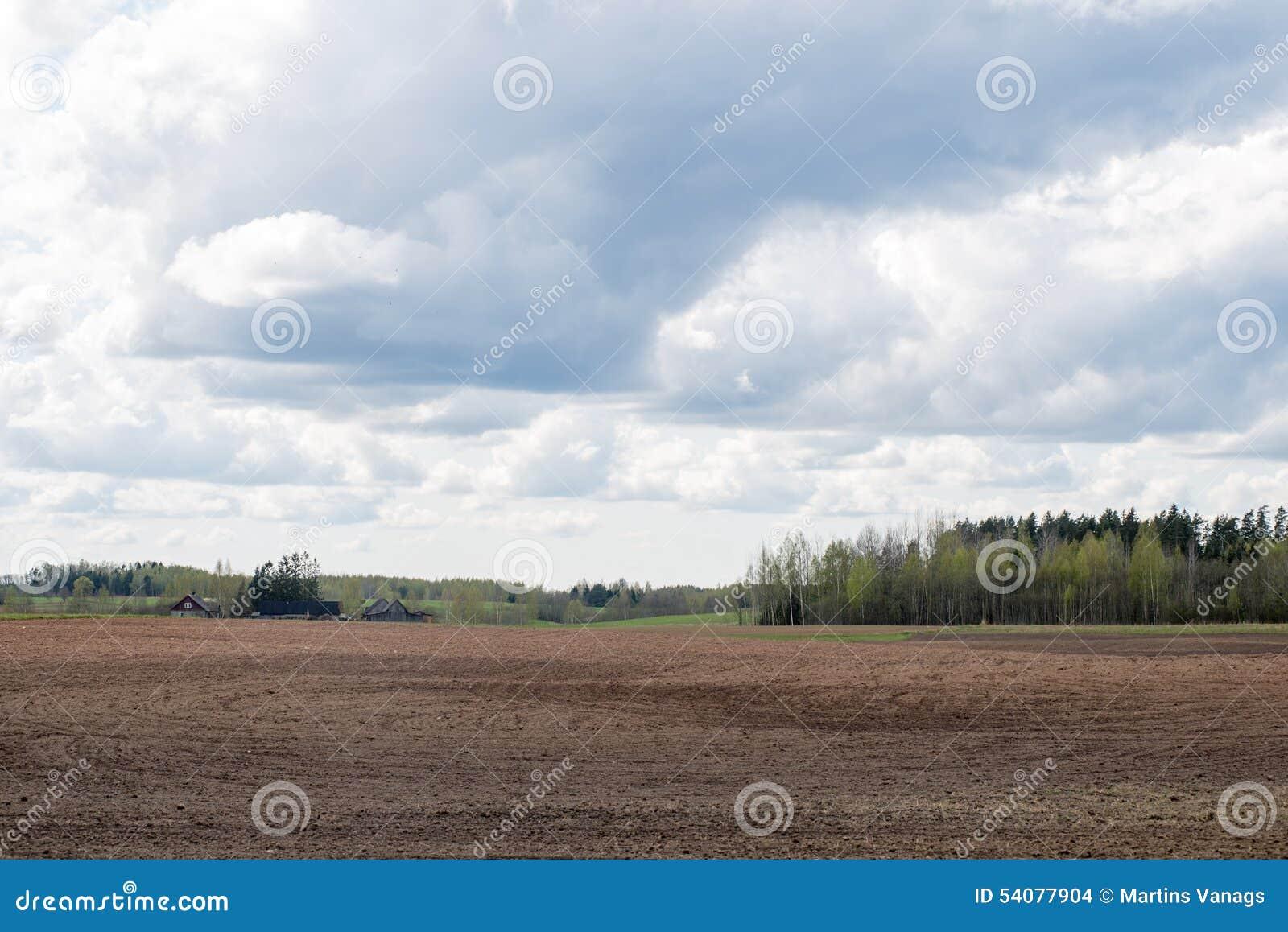 Plattelandsgebieden in de vroege lente