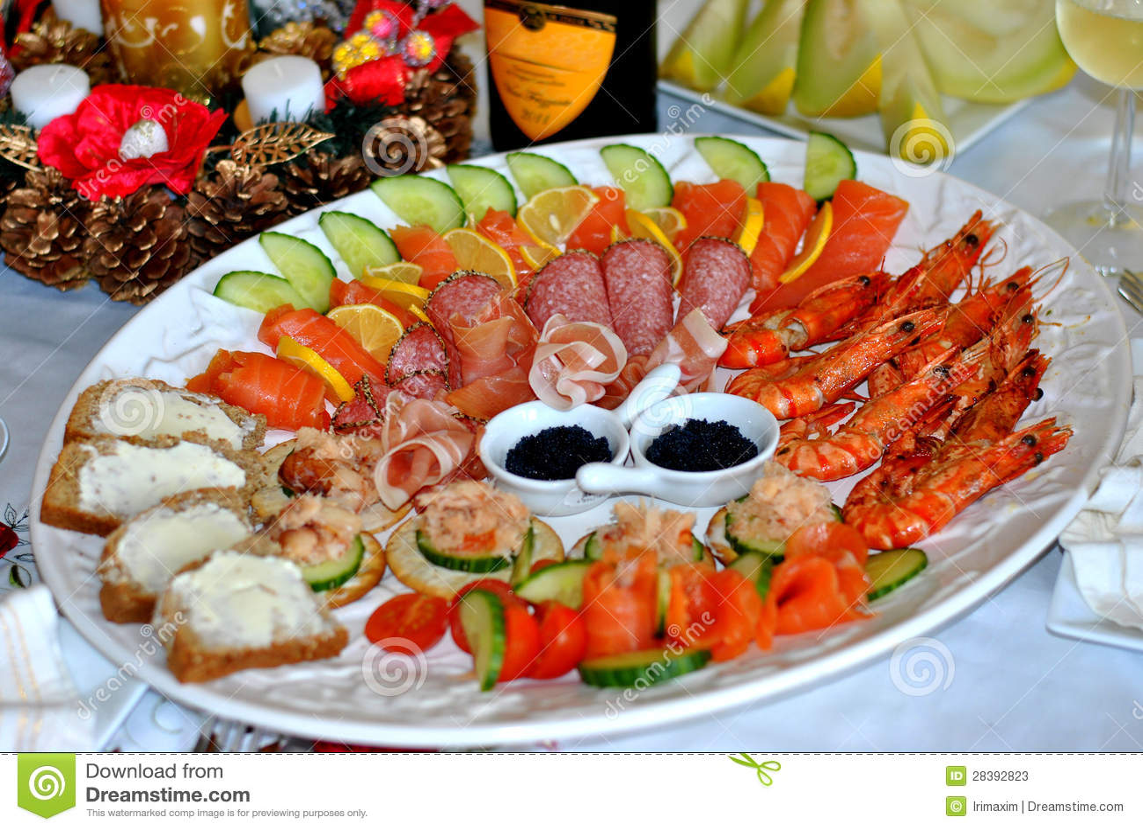 Platter θαλασσινών