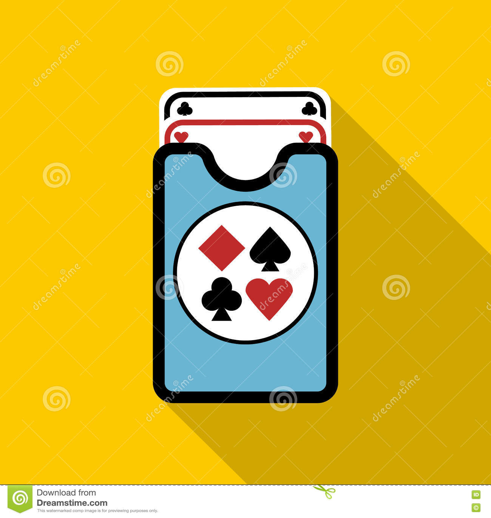 Plattform der Spielkarteikone, flache Art