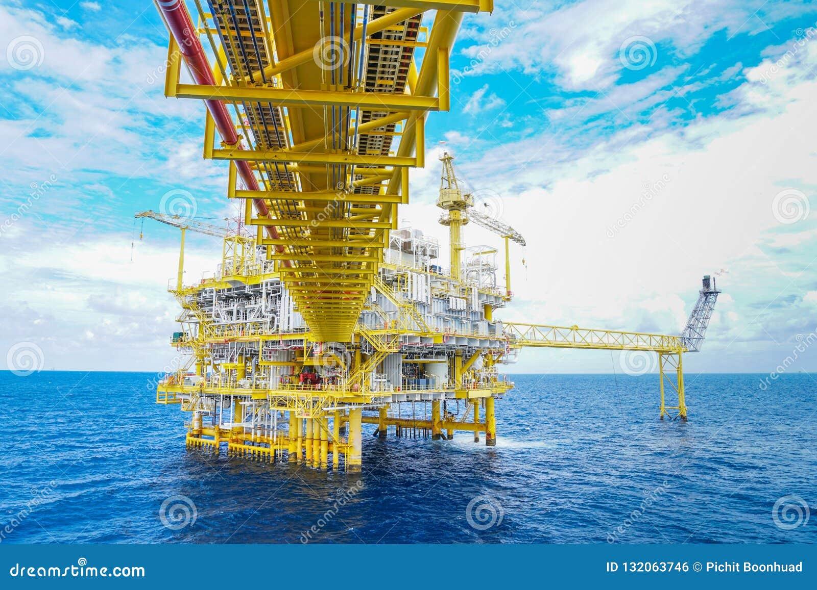 Plattform för fossila bränslenproduktion, fossila bränslenproduktion och utforskningaffär