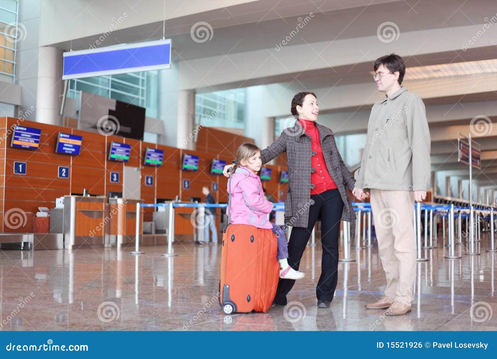 Plattform resväska för flygplatsfamiljkorridor
