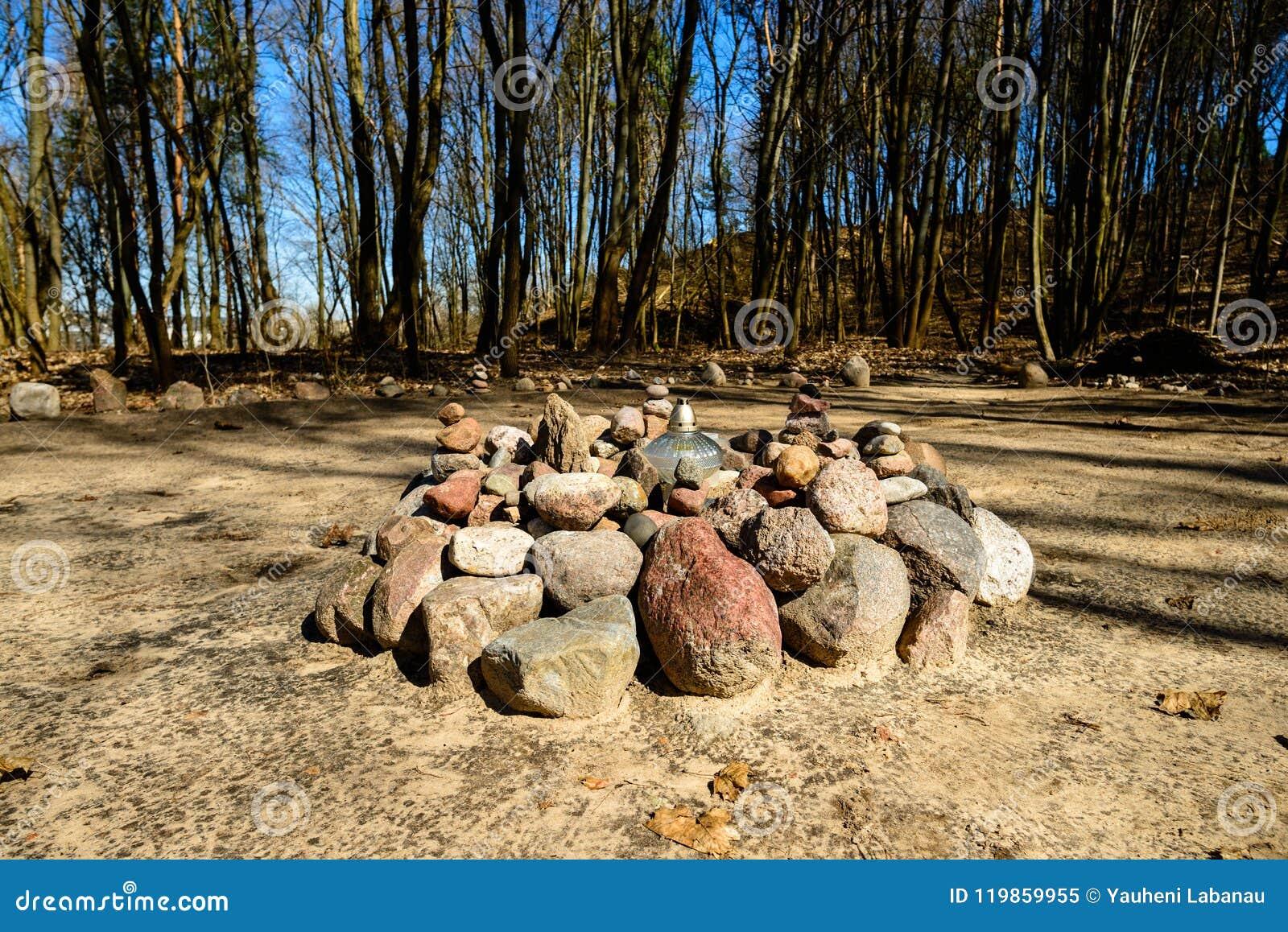 Platz für Ritualzeremonien im Wald