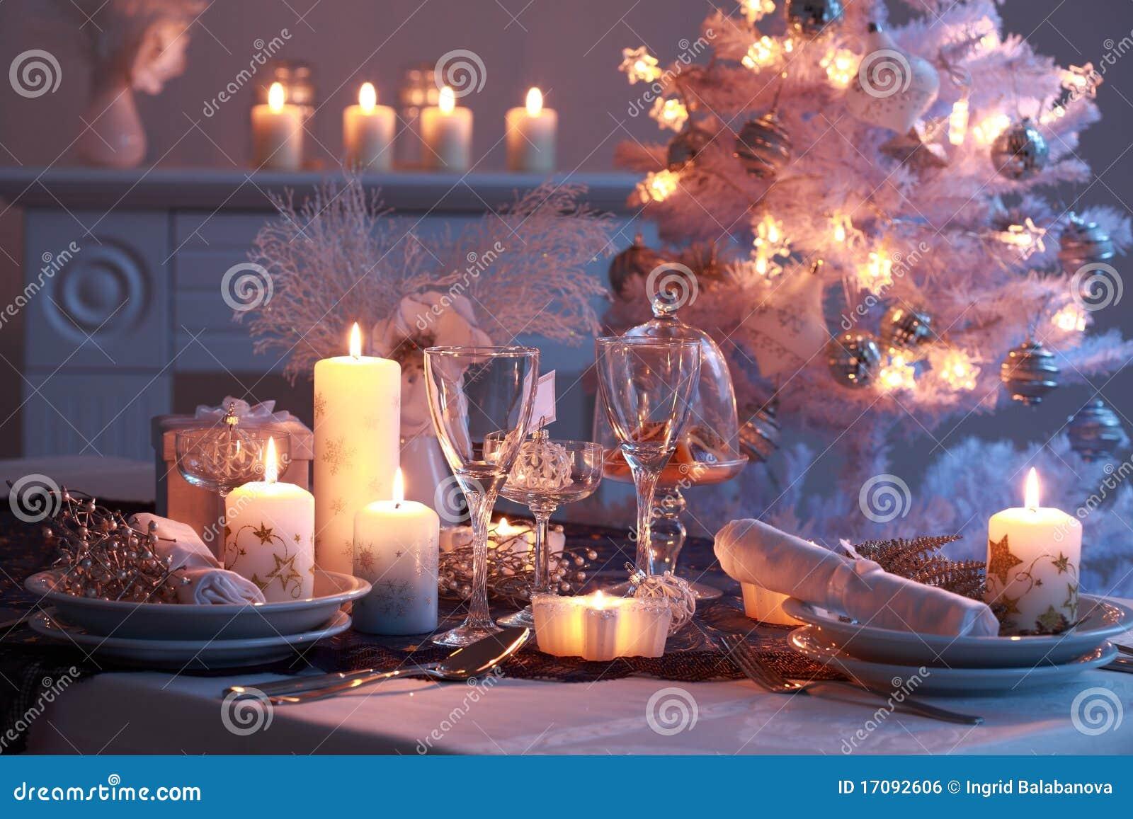 Platzeinstellung für Weihnachten