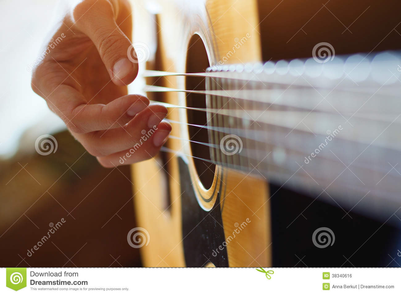 Play Acoustic Guitar Royalty Free Stock Image - Image ...