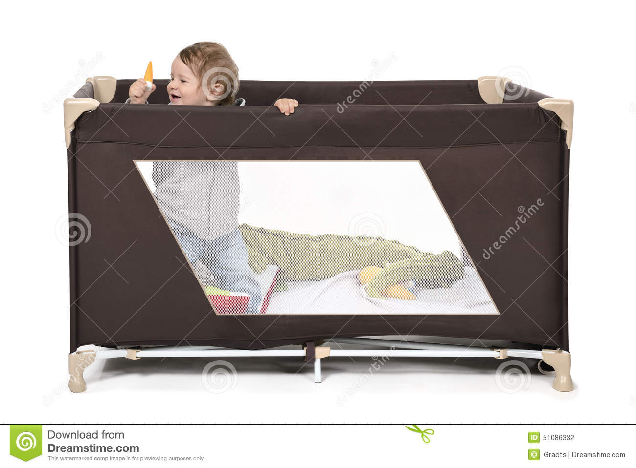 play bed stock photo image 51086332