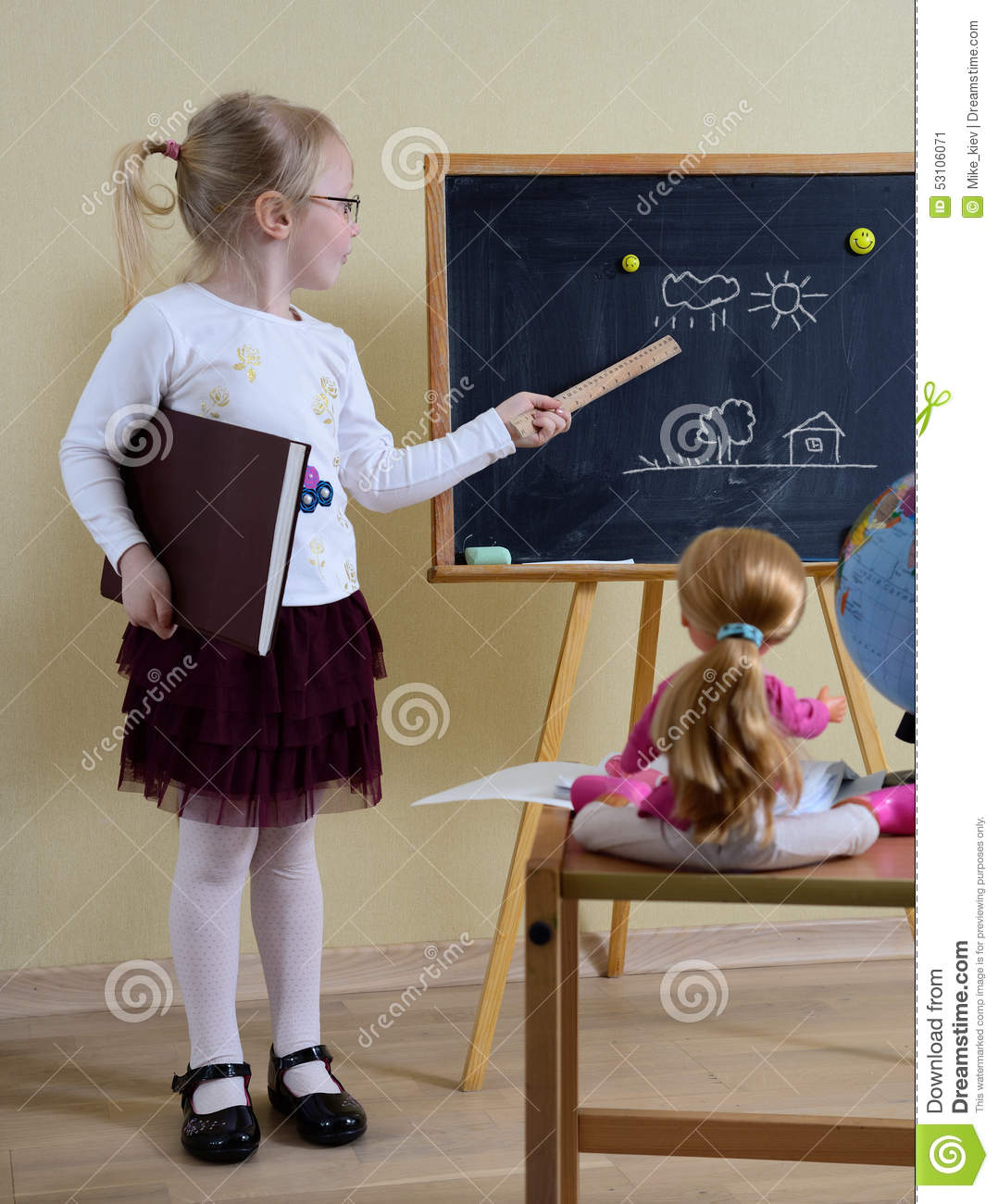 Play School stock image. Image of learn, point, hand - 53106071