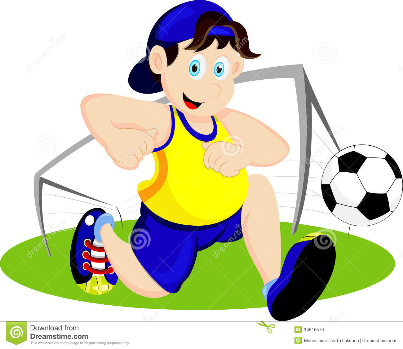 play soccer cartoon