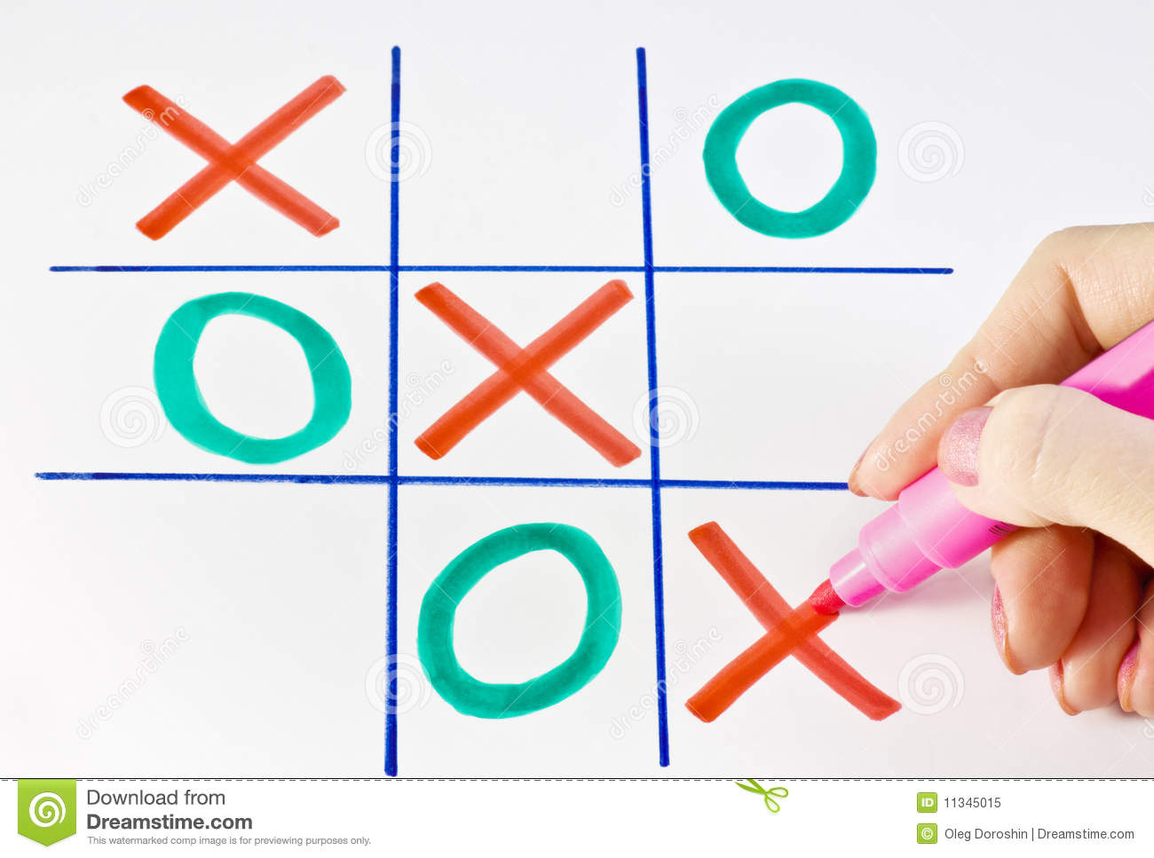 play tic tac toe stock image image of opportunity effect 11345015. Black Bedroom Furniture Sets. Home Design Ideas