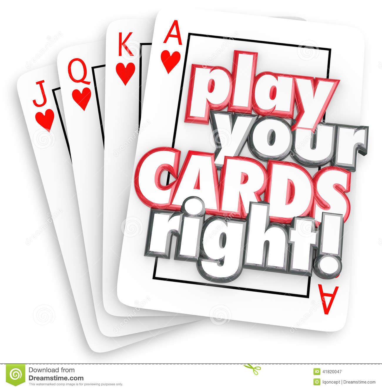 how to play your cards right