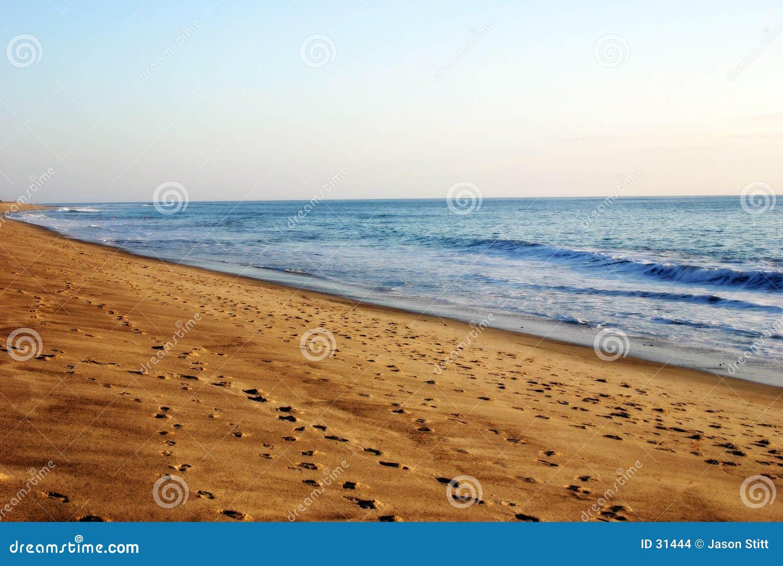 Download Playa foto de archivo. Imagen de huella, océanos, coastline - 31444