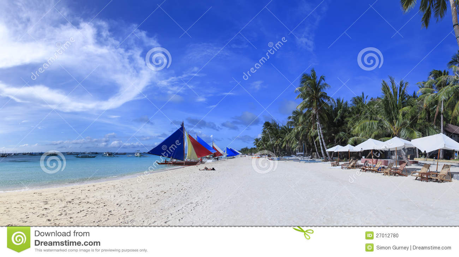 Playa blanca Filipinas de la isla de Boracay