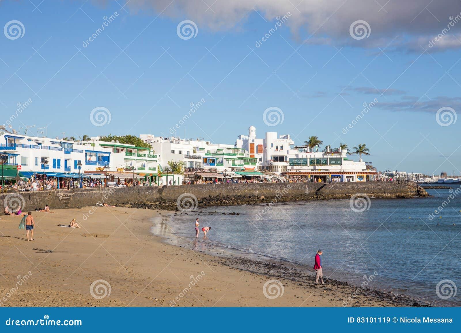 Playa BLANCA, in Lanzarote, Spanien