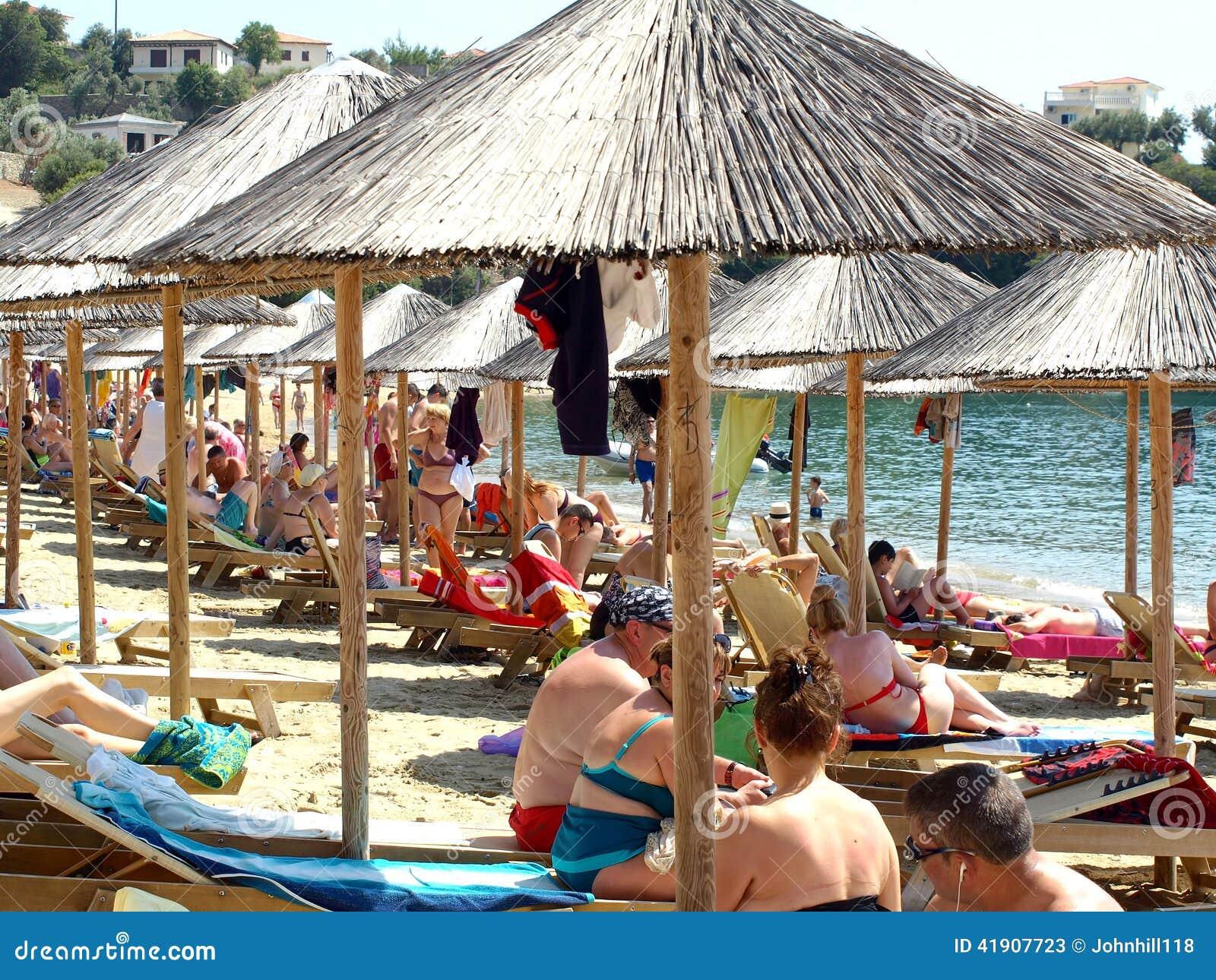 Playa de Achladia, Skiathos, Grecia