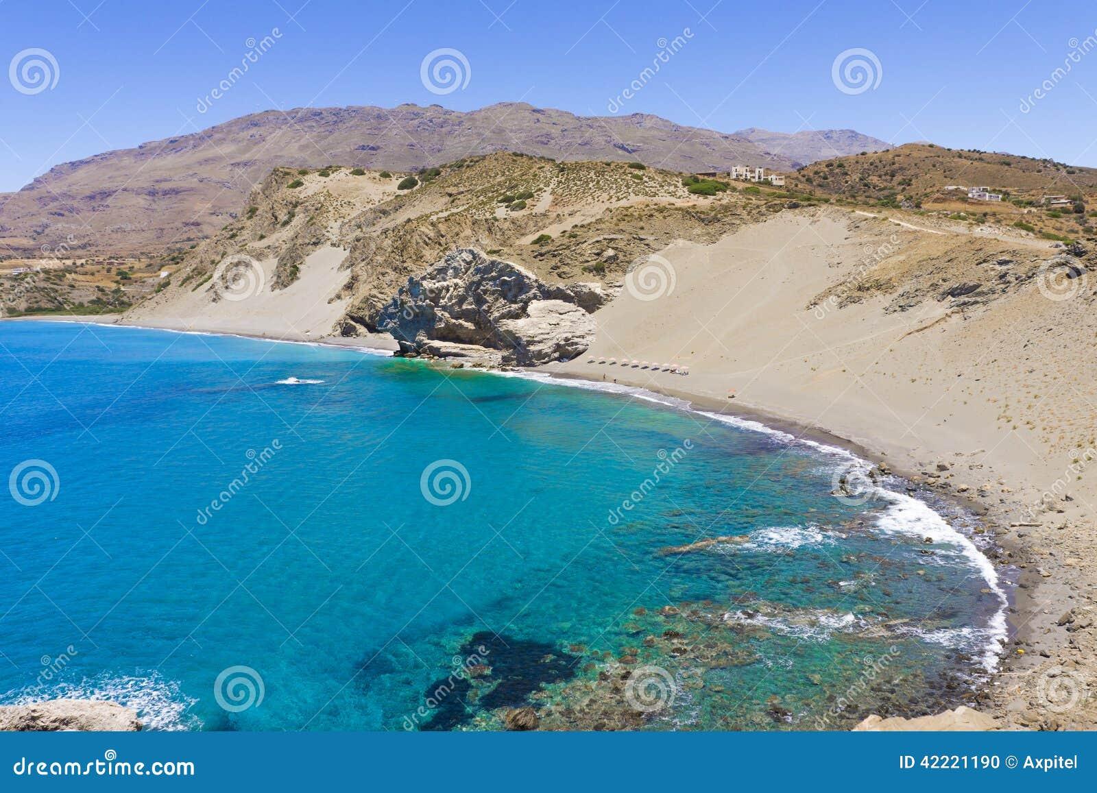 Playa de Agios Pavlos St Paul Sandhills en la isla de Creta, Grecia