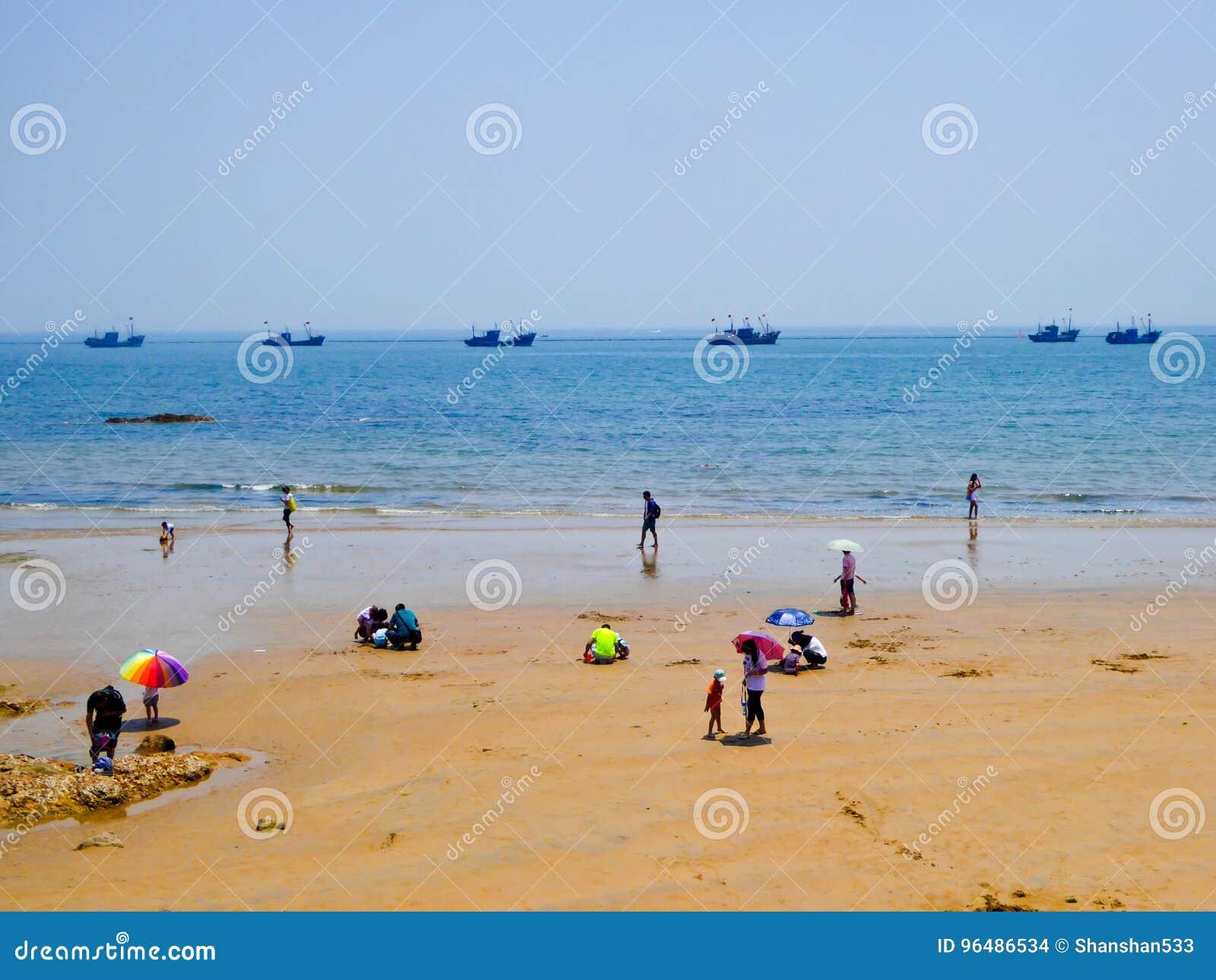 Playa de baño de la ciudad de Qingdao